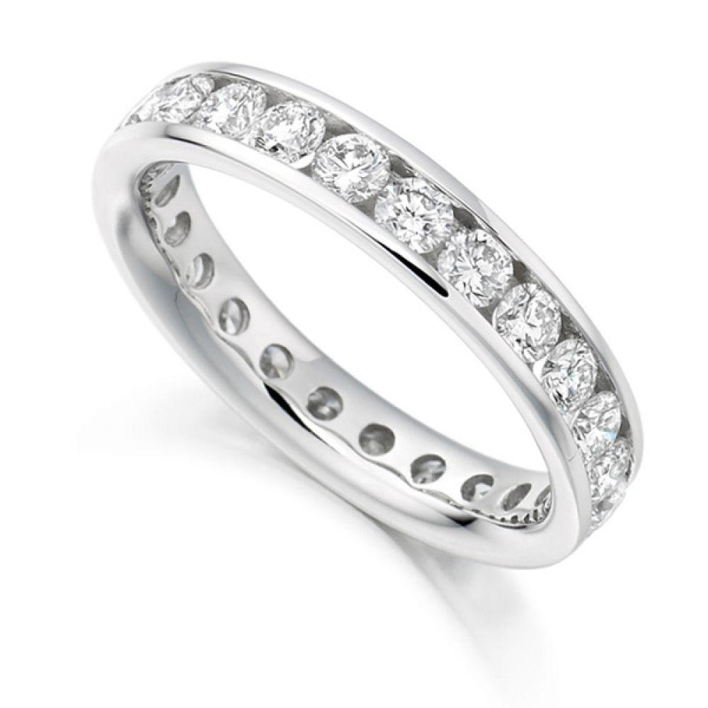 2 Carat Round Diamond Full Eternity Ring Channel Set