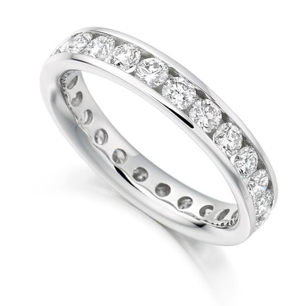 2 Carat Round Diamond Full Eternity Ring Channel Set Main Image