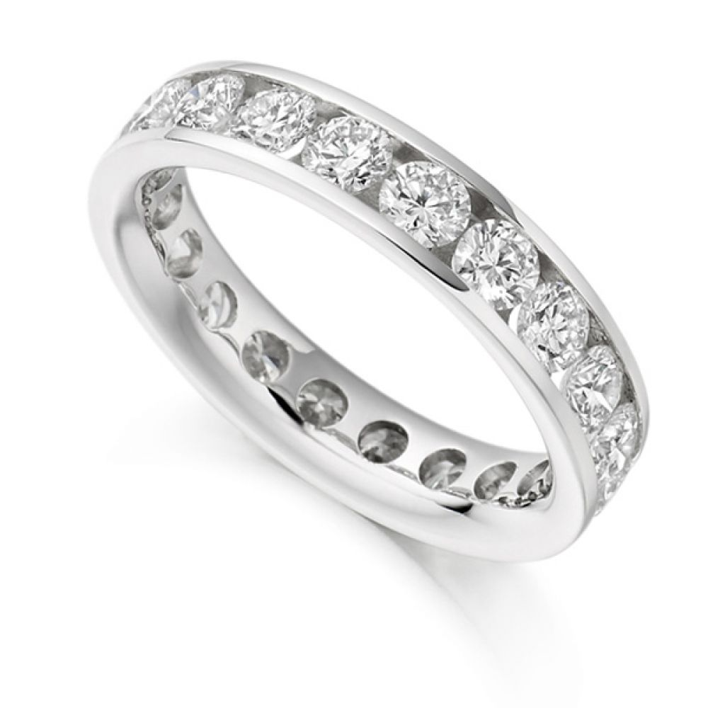 3 Carat Round Diamond Full Eternity Ring Channel Setting