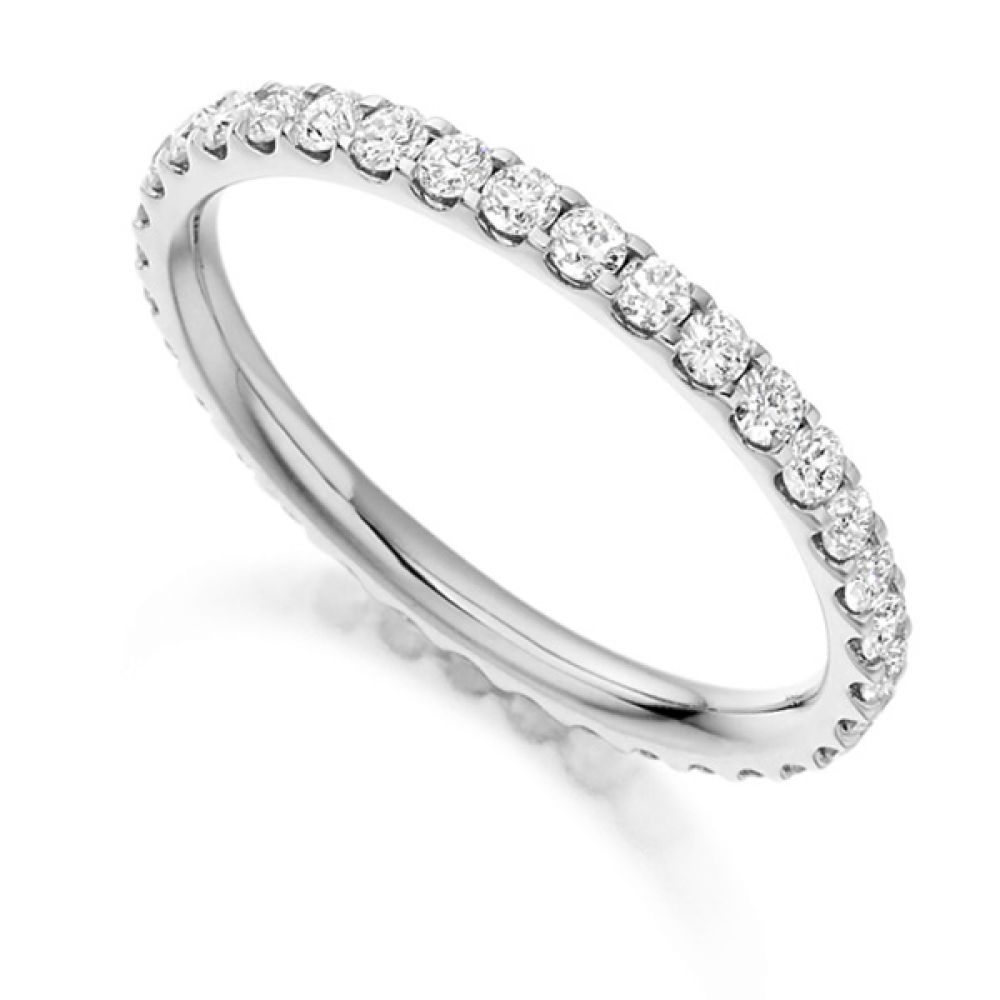 0.75ct Claw Set Full Diamond Eternity Ring