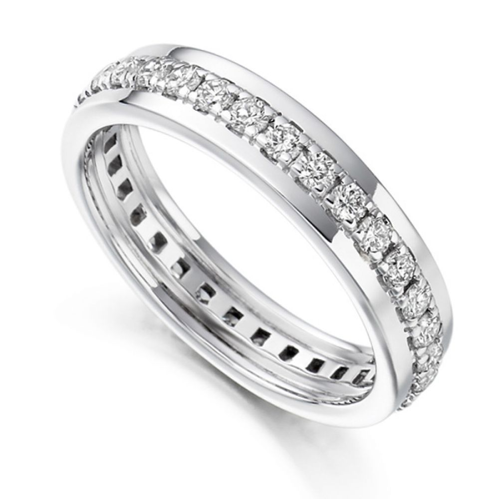 0.80cts Grain Set Full Diamond Eternity Ring