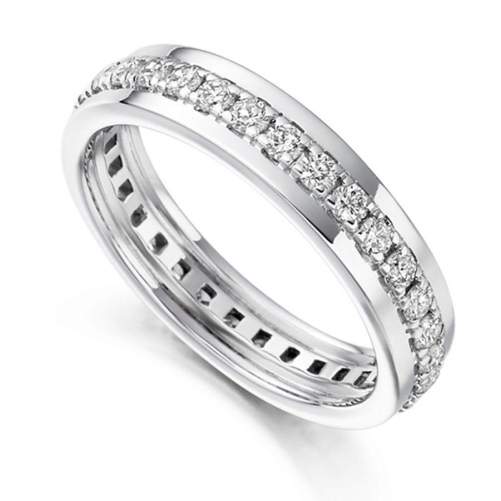 0.80cts Grain Set Full Diamond Eternity Ring
