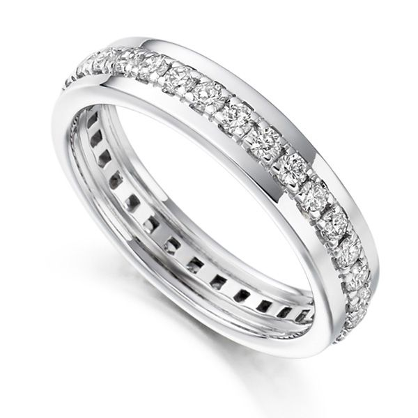 0.80cts Grain Set Full Diamond Eternity Ring  Main Image