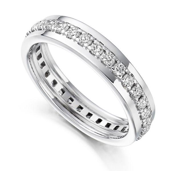 0.80cts Grain Set Full Diamond Eternity Ring  Main Image