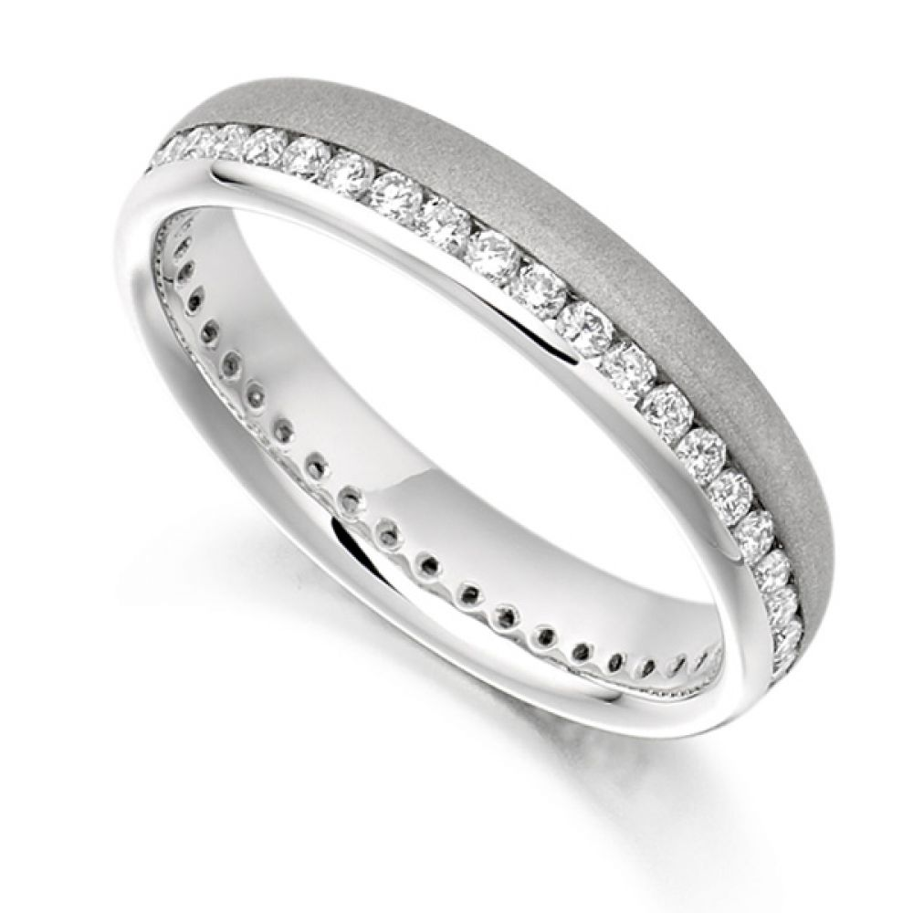 0.50ct Round Diamond Full Eternity Ring Satin Finished