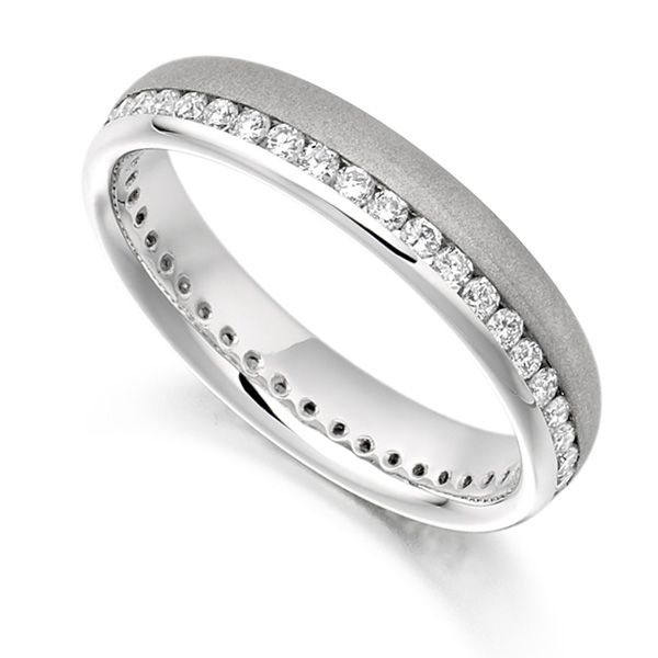 0.50ct Round Diamond Full Eternity Ring Satin Finished Main Image