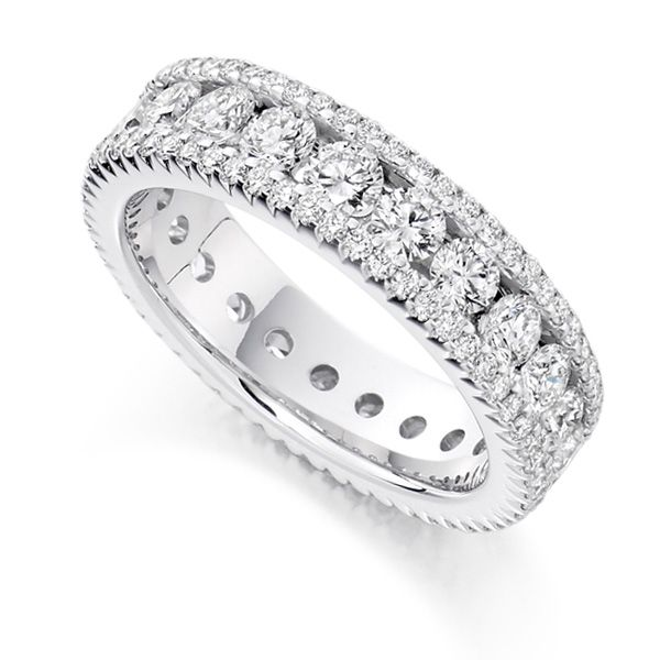2.80 Carat Diamond Encrusted Full Diamond Eternity Ring Main Image