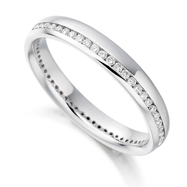 0.31cts Round Diamond Offset Channel Eternity Ring Main Image