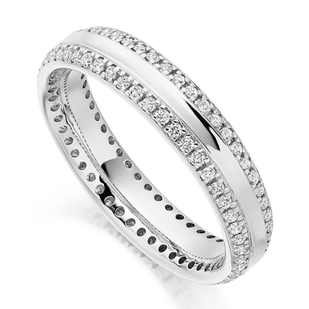 0.50cts Double Edge Diamond Set Full Eternity Ring