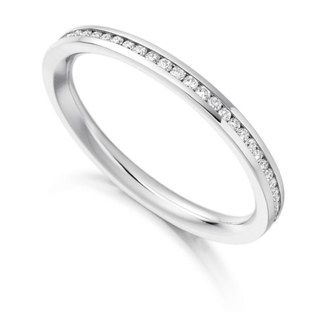 0.33cts Fully Channel Set Round Diamond Eternity Ring