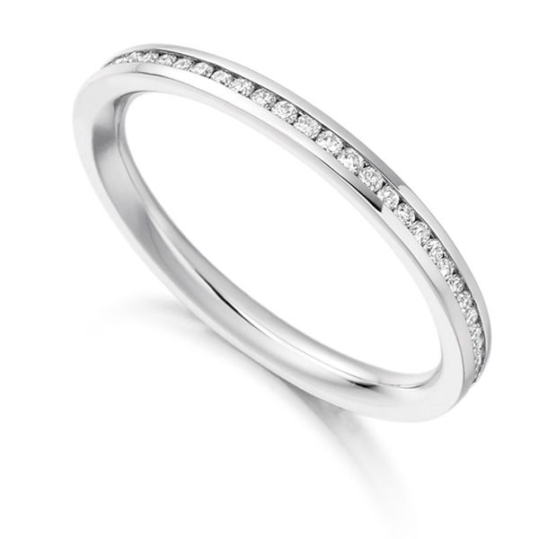0.33cts Fully Channel Set Round Diamond Eternity Ring Main Image