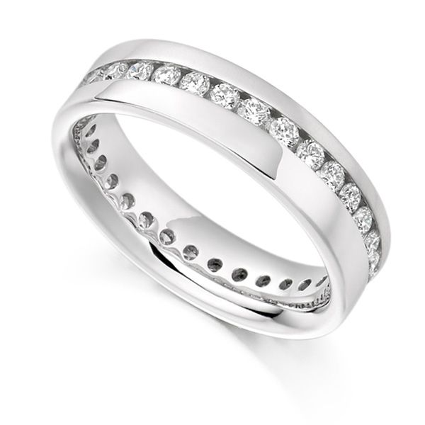 0.77ct Full Diamond Eternity Ring with Diagonal Channel Setting Main Image