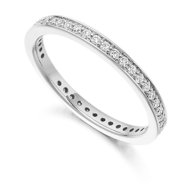 0.40ct Channel & Grain Set Full Diamond Eternity Ring Main Image