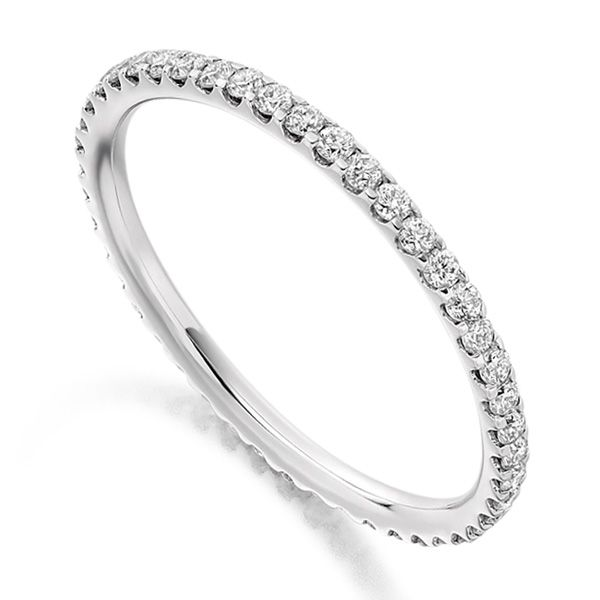 0.50cts Fine Claw-Set Full Diamond Eternity Ring Main Image