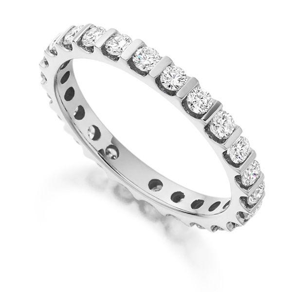 1 Carat Round Diamond Full Eternity Ring Bar Setting Main Image