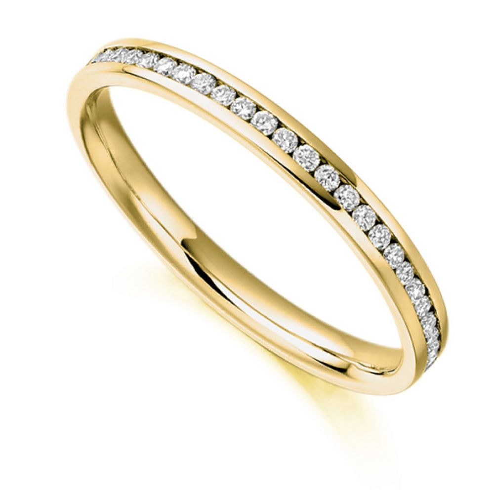 0.35cts Round Diamond Full Eternity Ring In Yellow Gold