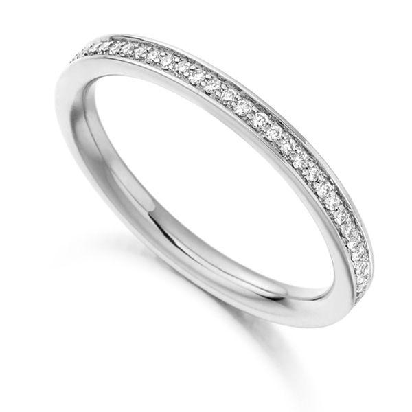 0.30cts Grain Set Diamond Full Eternity Ring Main Image
