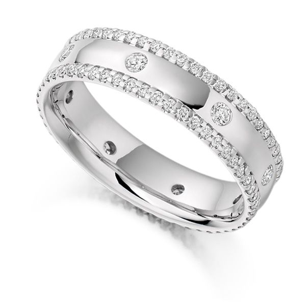 0.80ct Micro Pavé Flush Set Full Diamond Band Main Image