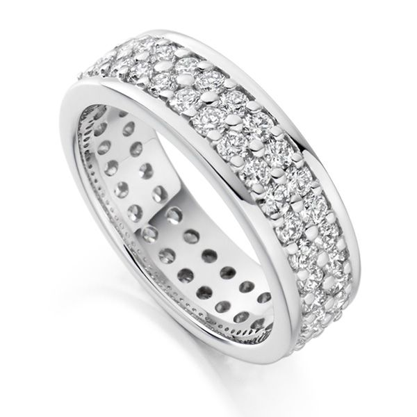 2 Carat Wide 6.1mm Double Row Full Eternity Ring Main Image