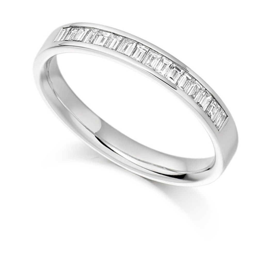 0.33cts Baguette Diamond Half Eternity Ring
