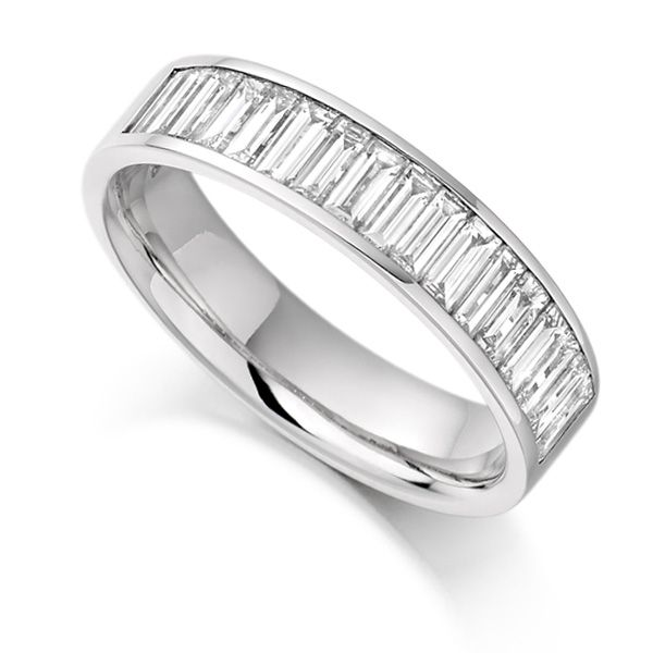 1 Carat Channel Set Baguette Half Eternity Ring Main Image