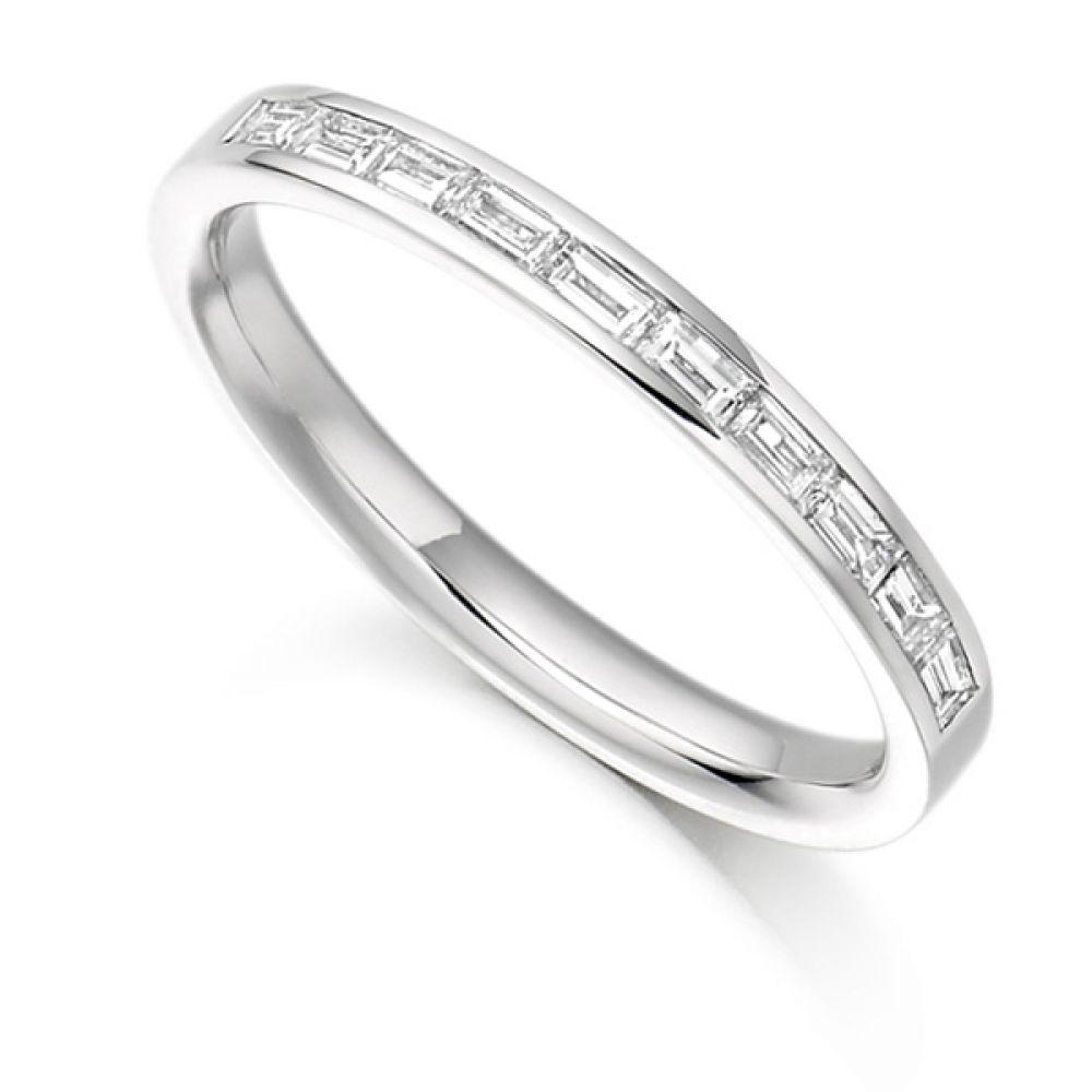 0.30cts Baguette Diamond Half Eternity Ring