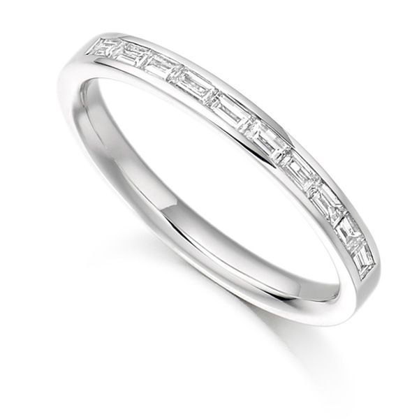0.30cts Baguette Diamond Half Eternity Ring Main Image