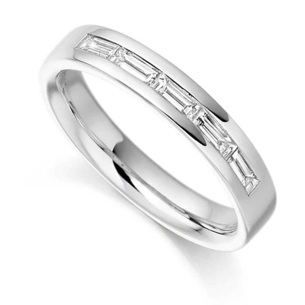 0.30cts Baguette Cut 5 Stone Diamond Ring