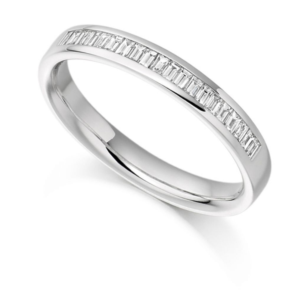 0.25cts Half Channel Set Baguette Diamond Eternity Ring