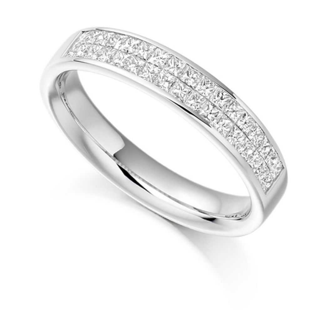 0.60ct Invisibly Channel Set Princess Half Eternity Ring
