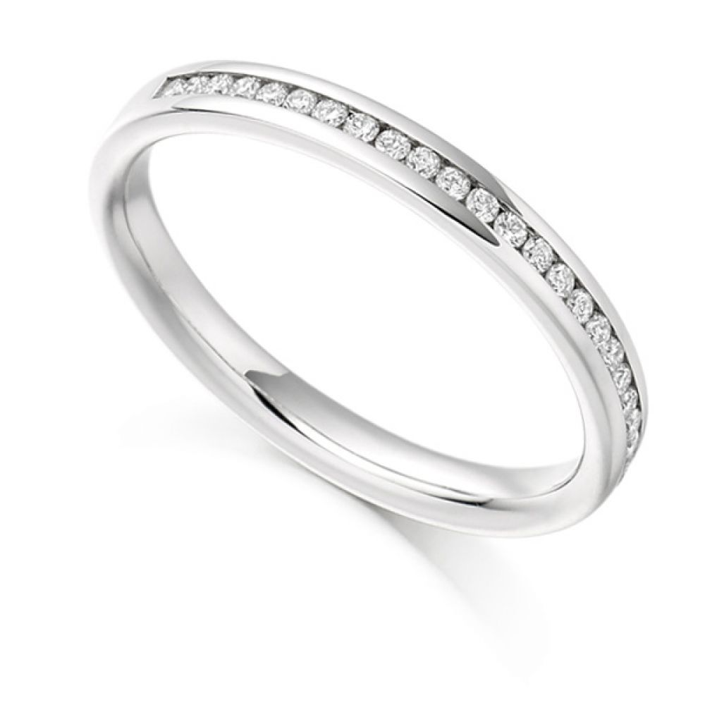 0.15ct Round Diamond Half Eternity Ring