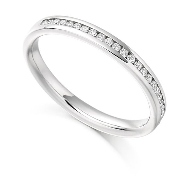 0.15ct Round Diamond Half Eternity Ring Main Image