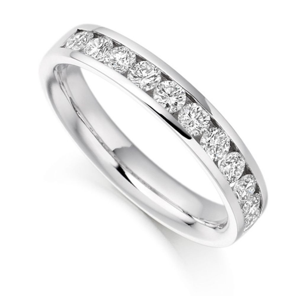0.80cts Round Brilliant Diamond Half Eternity Ring