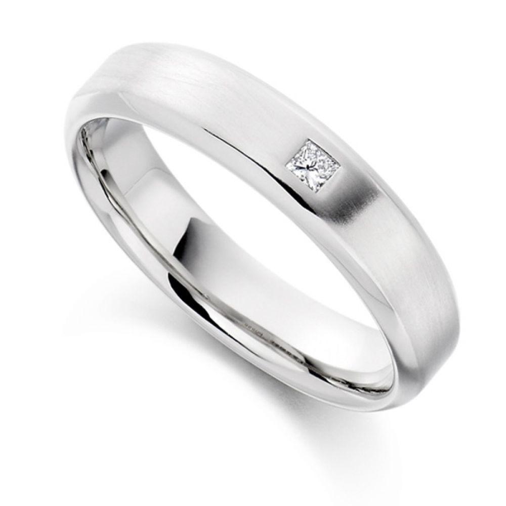 0.06cts Princess Cut Diamond Men's Wedding Ring