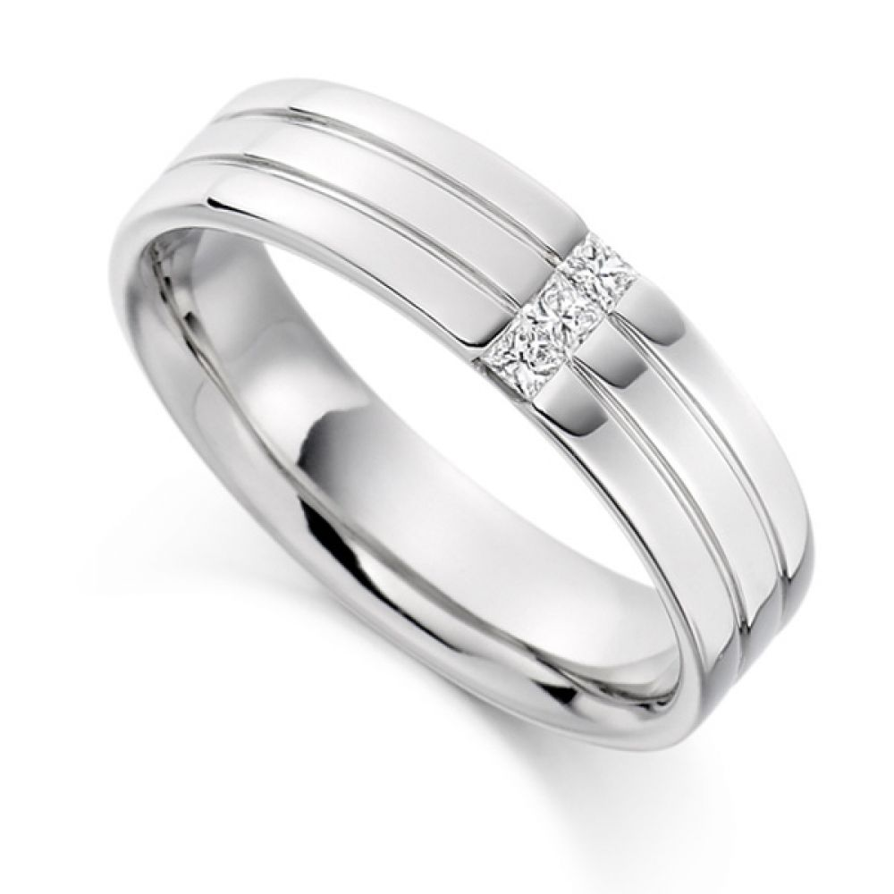 0.15cts Men's Diamond Wedding Ring