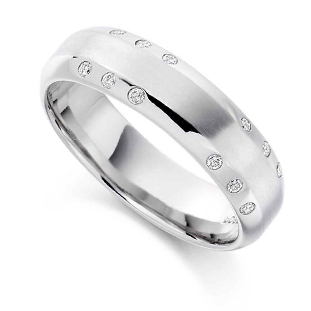 0.15cts Men's Flush Set Diamond Wedding Ring