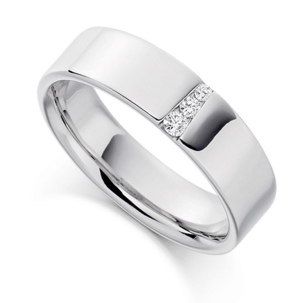 0.10cts Graduated Diamond Wedding Ring for Men