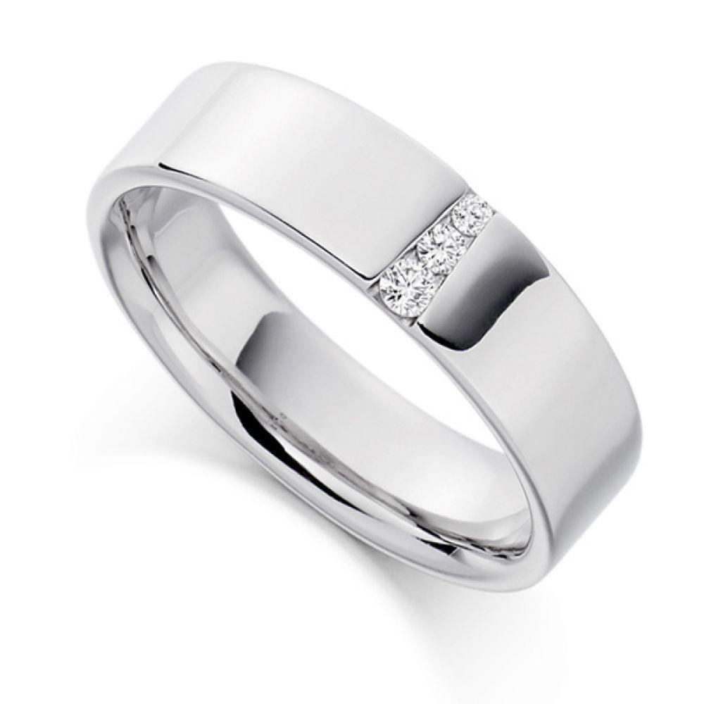 0.10cts Graduated Diamond Wedding Ring for Men