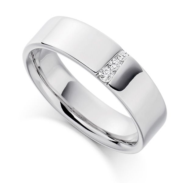 0.10cts Graduated Diamond Wedding Ring for Men Main Image