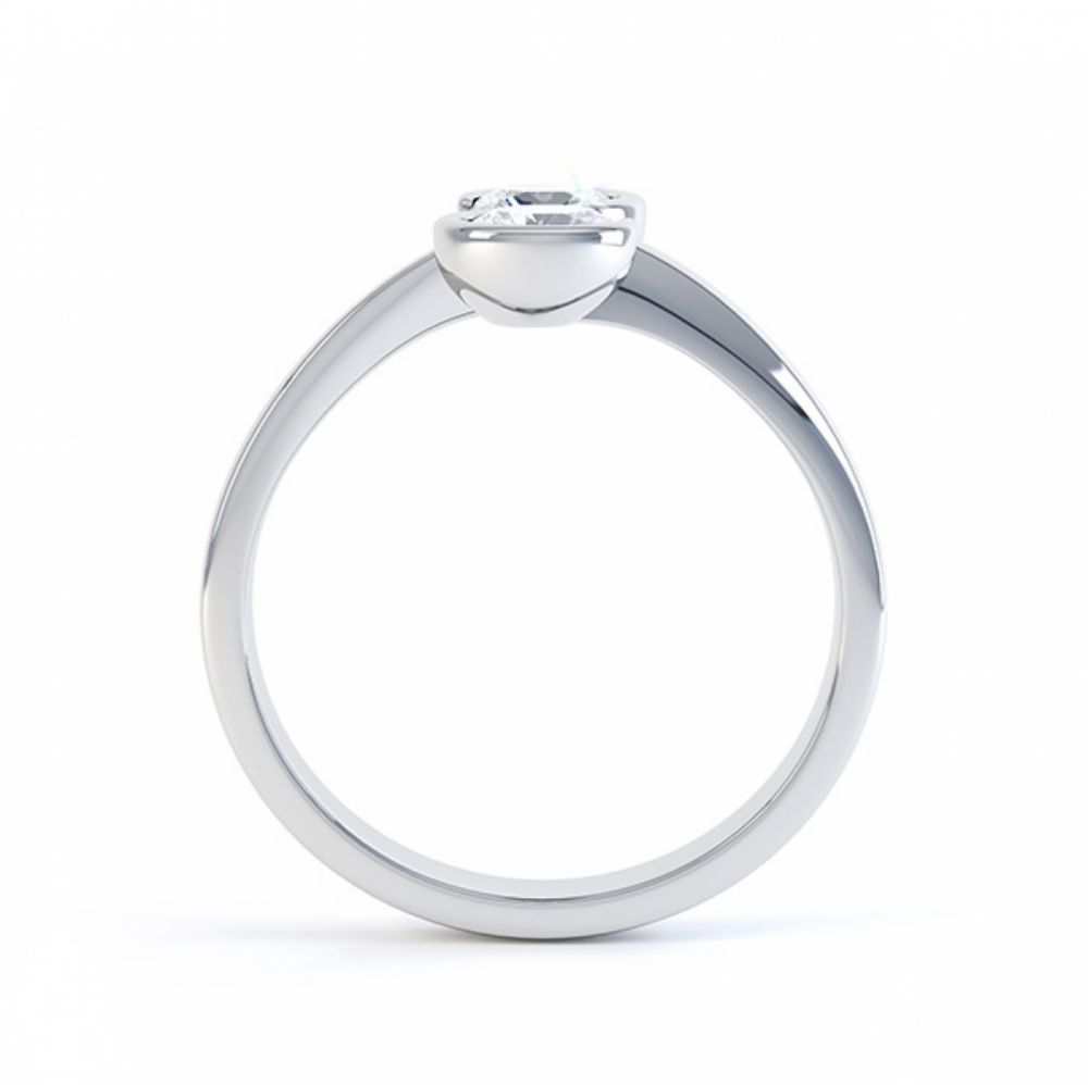 0.50cts 2 Stone Diamond Swirl Engagement Ring Front View