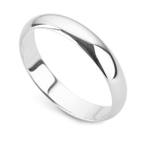 Plain 'D' Shaped Wedding Ring Main Image