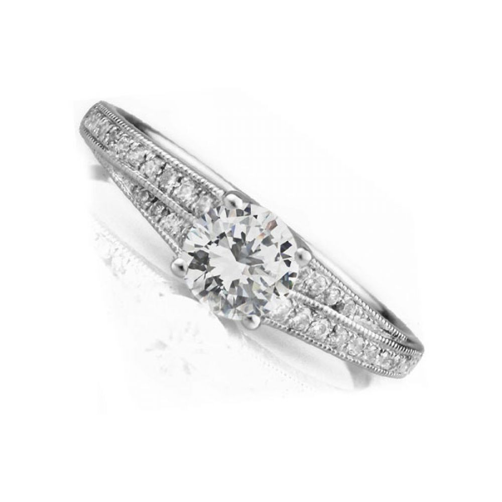 Vienna Double shoulder engagement ring