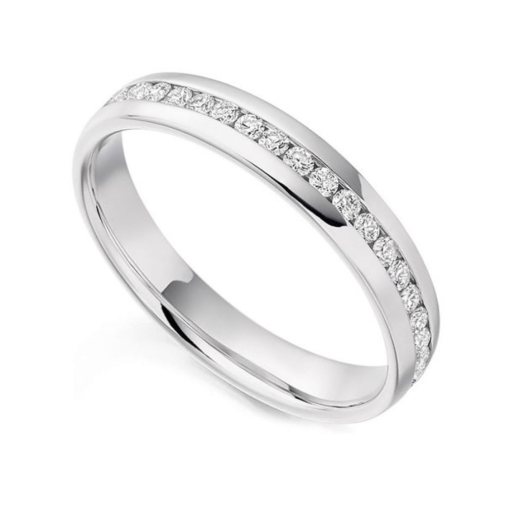 0.60cts Full Eternity Ring 18ct White Gold Size L