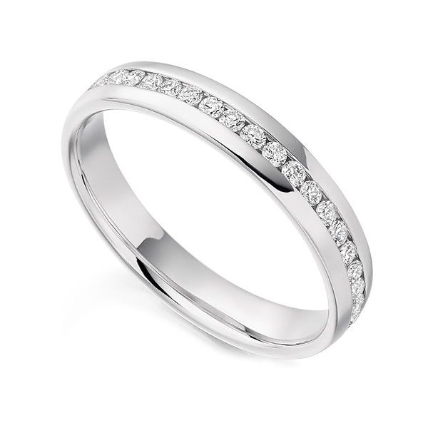 0.60cts Full Eternity Ring 18ct White Gold Size L Main Image