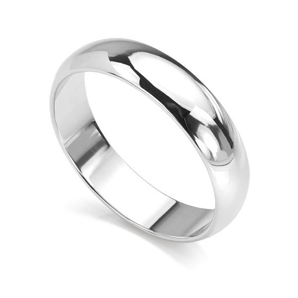Heavy D Shaped Wedding Ring Main Image