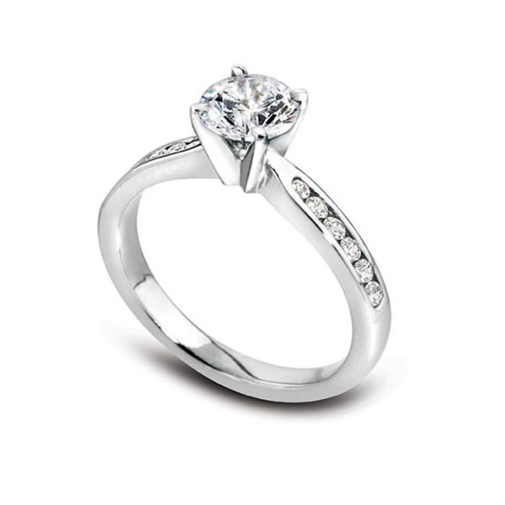 3 Carat Amethyst Diamond Halo Engagement Ring