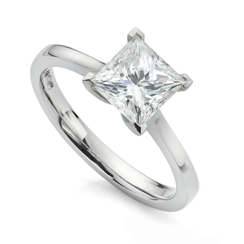 1.06cts K VVS2 Princess Diamond Engagement Ring