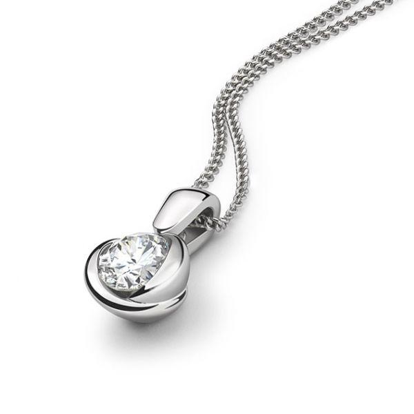 Rosebud diamond pendant rosebud pd024 rosebud round diamond solitaire pendant aloadofball Choice Image