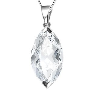 2 Claw Marquise Diamond Solitaire Pendant Main Image