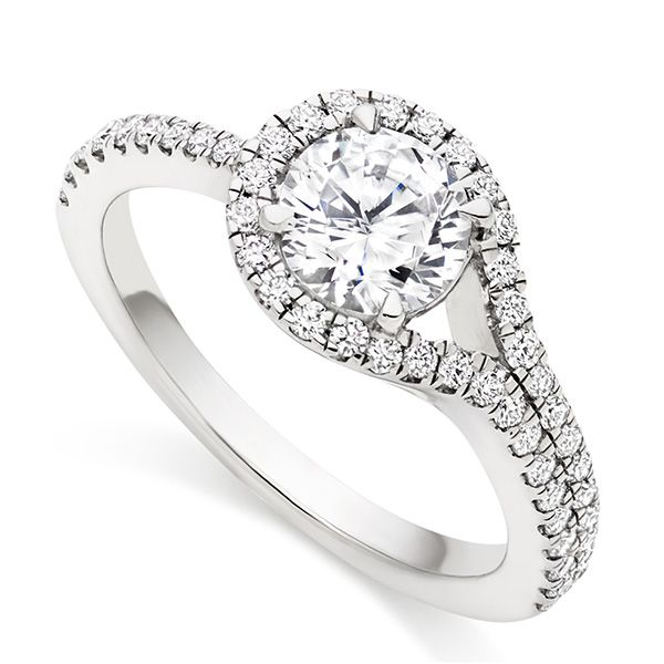Diamond Loop Halo Engagement Ring Main Image
